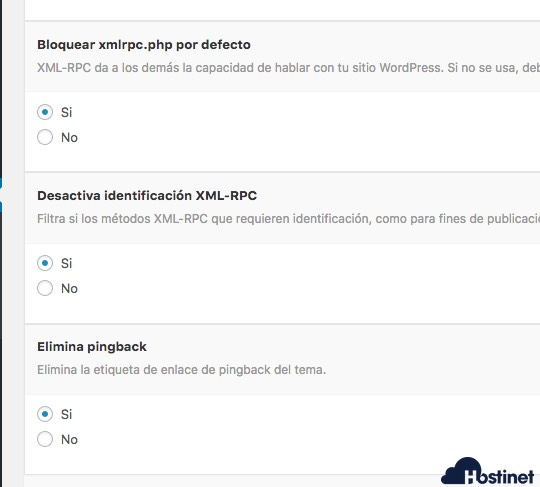 wp hide bloquear xmlrcp WordPress