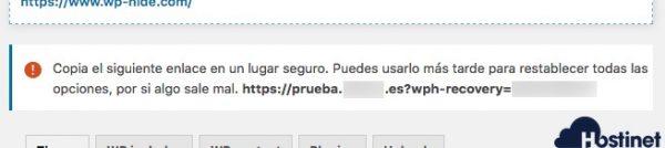 wp hide enlace seguridad WordPress
