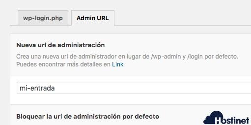 wp hide url acceso cambiada WordPress