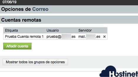 cuenta remota anadida final - Webmail