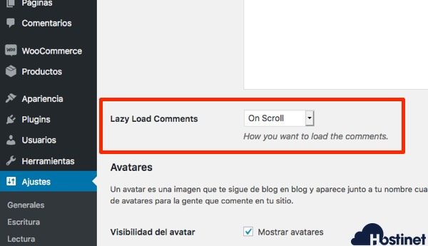 localizar lazy load comments - Lazy Load Commets