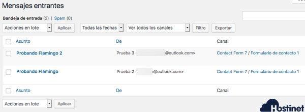 mensajes guardados flamnigo - WordPress