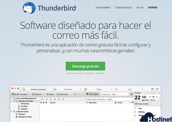 web descarga thunderbird