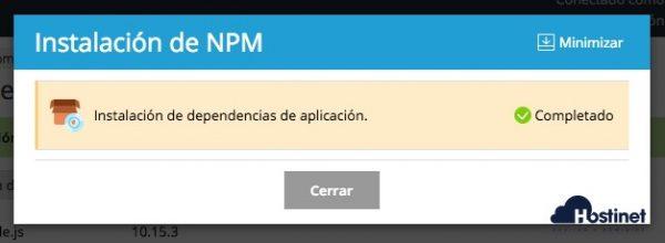 instalacion npm plesk - Node.js