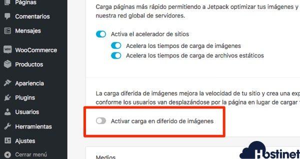 jetpack carga diferida imagenes - WordPress