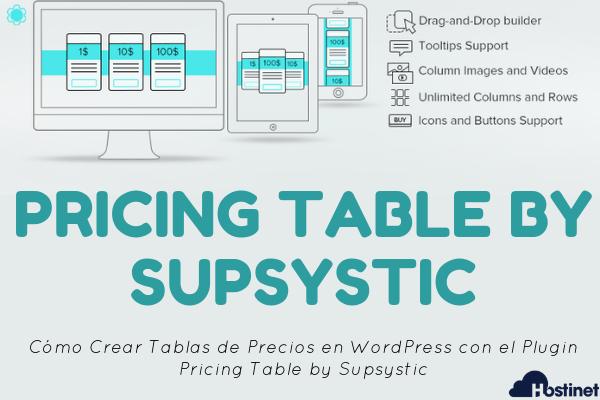 Pricing Table by Supsystic - Tablas de Precios en WordPress
