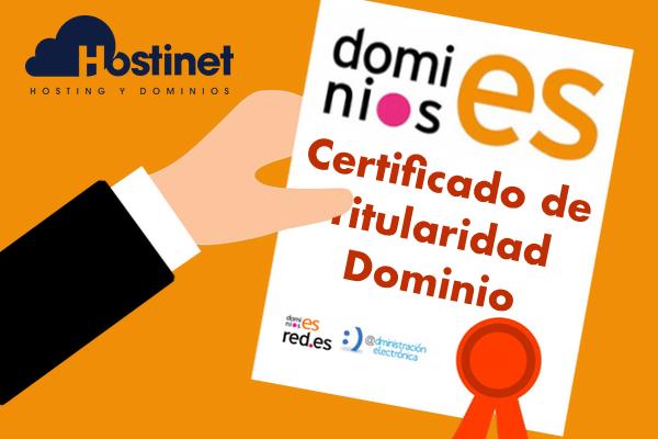 Cómo Solicitar un Certificado de Titularidad de un Dominio .ES