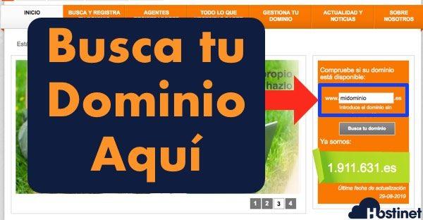 dominios es buscar dominio - Dominios.es