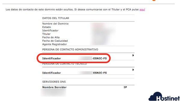 dominios es identificador dominio - Dominios.es