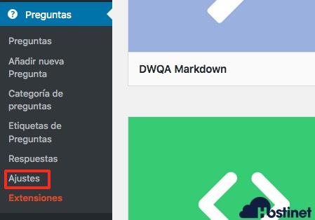 dw qa menu wordpress