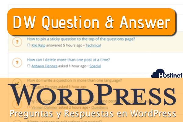DW Question & Answer - Preguntas y Respuestas en WordPress