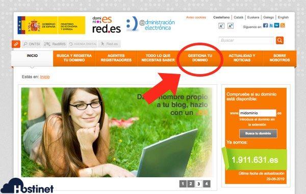 gestionar tu dominio Dominios.es