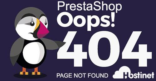 prestashop error 404