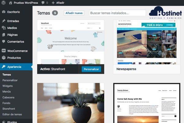 theme switcha activar tema modificado WordPress