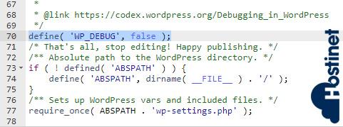 wp-debug false