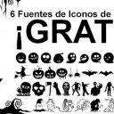 6 Fuentes de Iconos de Halloween ¡Gratis!
