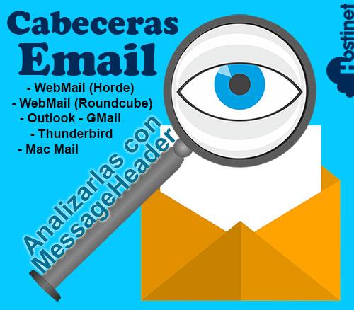 Cabeceras Email, Analizarlas con MessageHeader