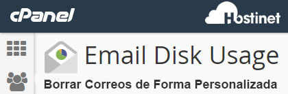 Borrar Correos con Email Disk Usage de Forma Personalizada