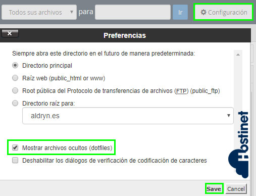 cpanel dotfiles