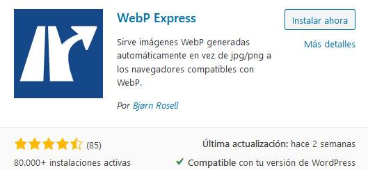 plugin webp express WordPress