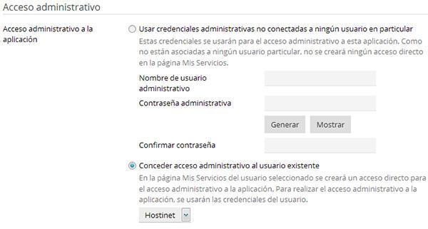 Configuracion acceso admin desde Plesk para Drupal instalación