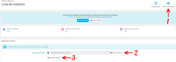 PrestaShop -> Añadir módulo