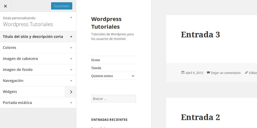 Personalizar un tema en Wordpress