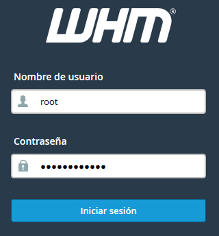Hostinet WHM usuario root