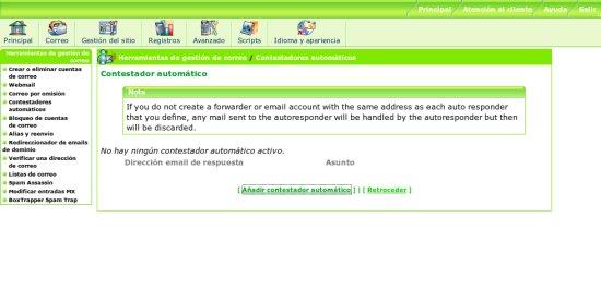 Contestador automático de correo