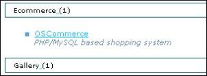 Acceso para la instalación de OsCommerce