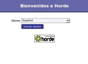 Pantalla de bienvenida a Horde