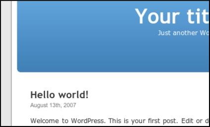 Apariencia inicial de tu blog