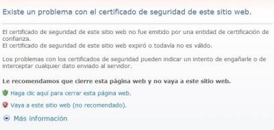 Error Certificado Cpanel