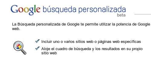 Google Búsqueda Personalizada