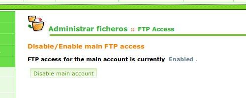 Acceso FTP cPanel