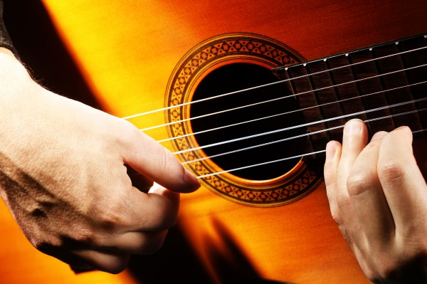 Acoustic guitar playing details