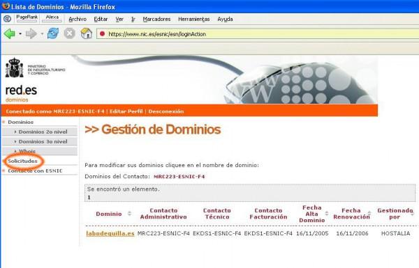 traslado dominios. es