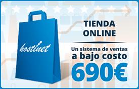 Tienda online :: Un sistema de ventas a bajo costo 690 €
