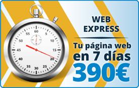 Web Express :: Tu página web en 7 días 390 €
