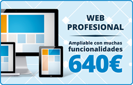 Web profesional :: Ampliable con muchas funcionalidades 640 €