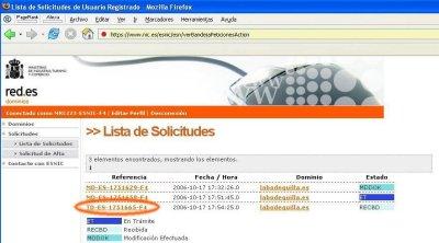 Traslado dominios .es