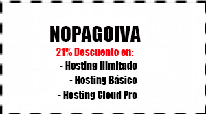 cupon nopagoiva mini Hostinet