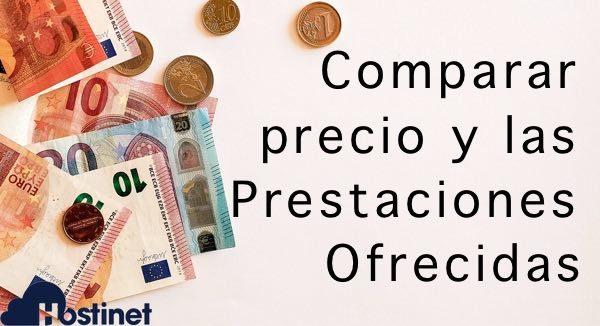Comparar precio con las prestaciones ofrecidas