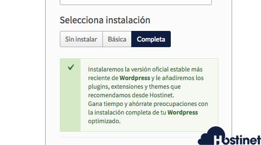 instalacion completa wordpress en Hostinet