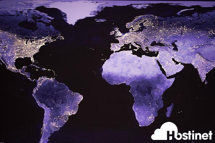 mapa mundo noche