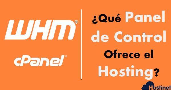 qué panel de control ofrece el hosting?