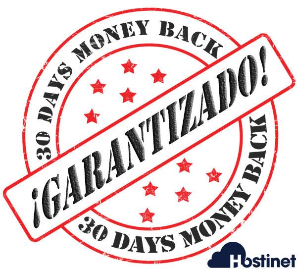 Hostinet 30 días devolución dinero garantizado