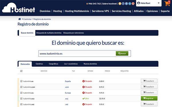 Transferir Dominio .ES