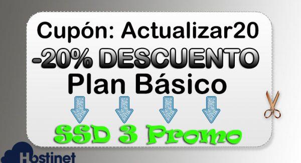 Cupón Actualizar 20 Básico SSD3 Promo