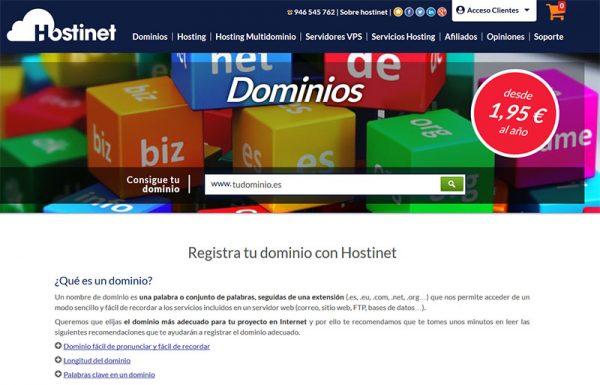 Hostinet Dominios Tudominio.es